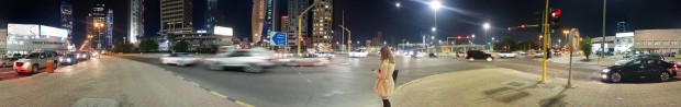 Panoramic picture of a street in Kuwait