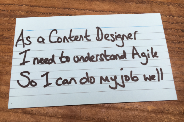 As a content designer, I need to understand agile so I can do my job well