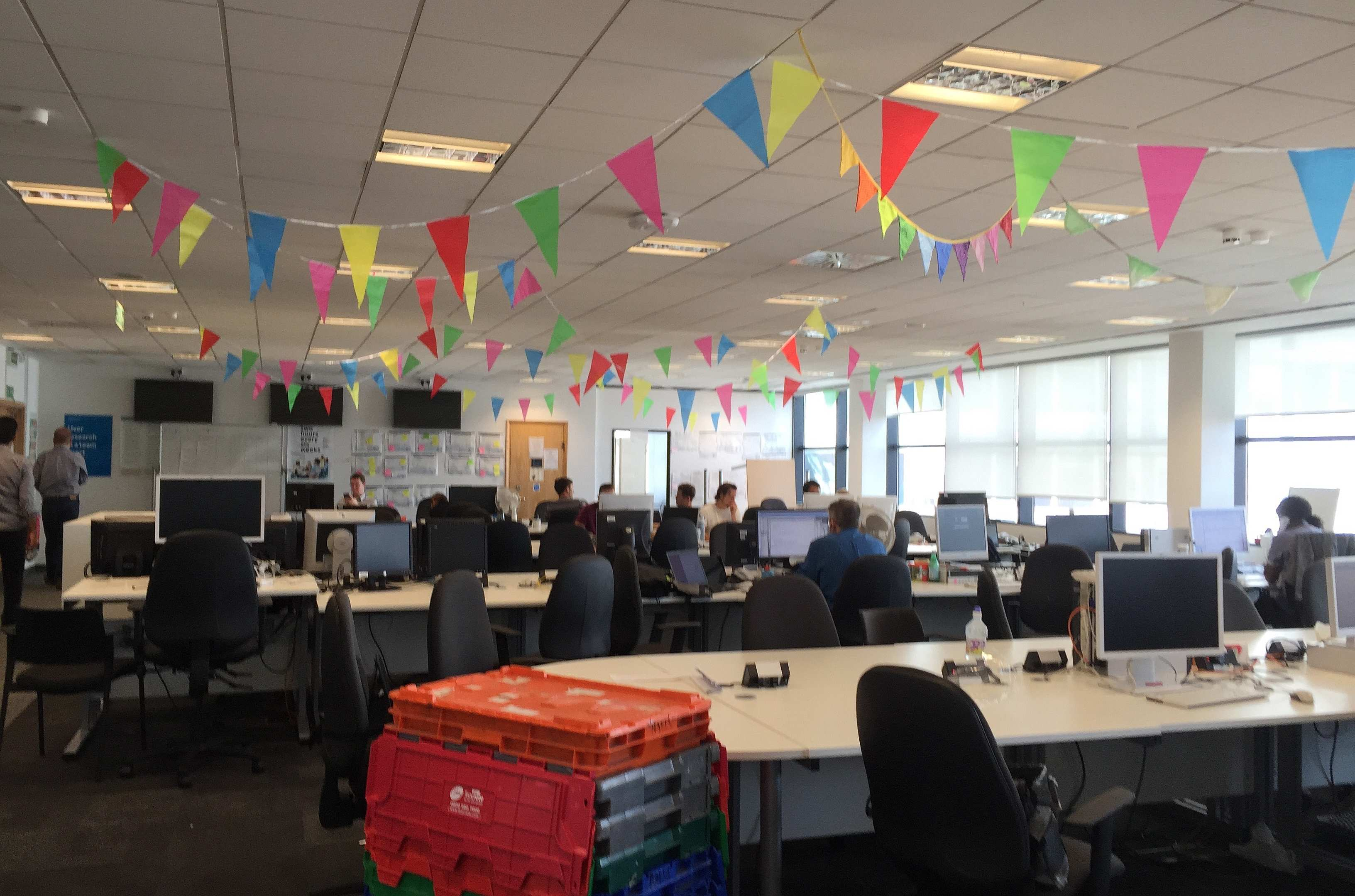 A newly decorated office space